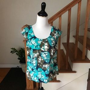 NWOT$88 Lucky Brand silk blouse, top, size S Small